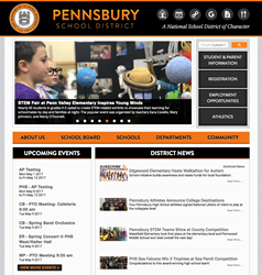 school website homepage