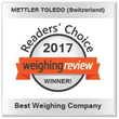 METTLER TOLEDO Earns Third Year as Weighing Review's Best Weighing Company and Fourth Consecutive Lab Balance Award