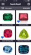 Virtual Diamond Boutique Gemstone Search Results, on App