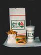 Back Yard Burger Menu from 1987