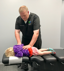 One of the many children that get adjusted at Gem City Chiropractic
