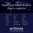 Artlimes supporting Sellers in more than 21 countries
