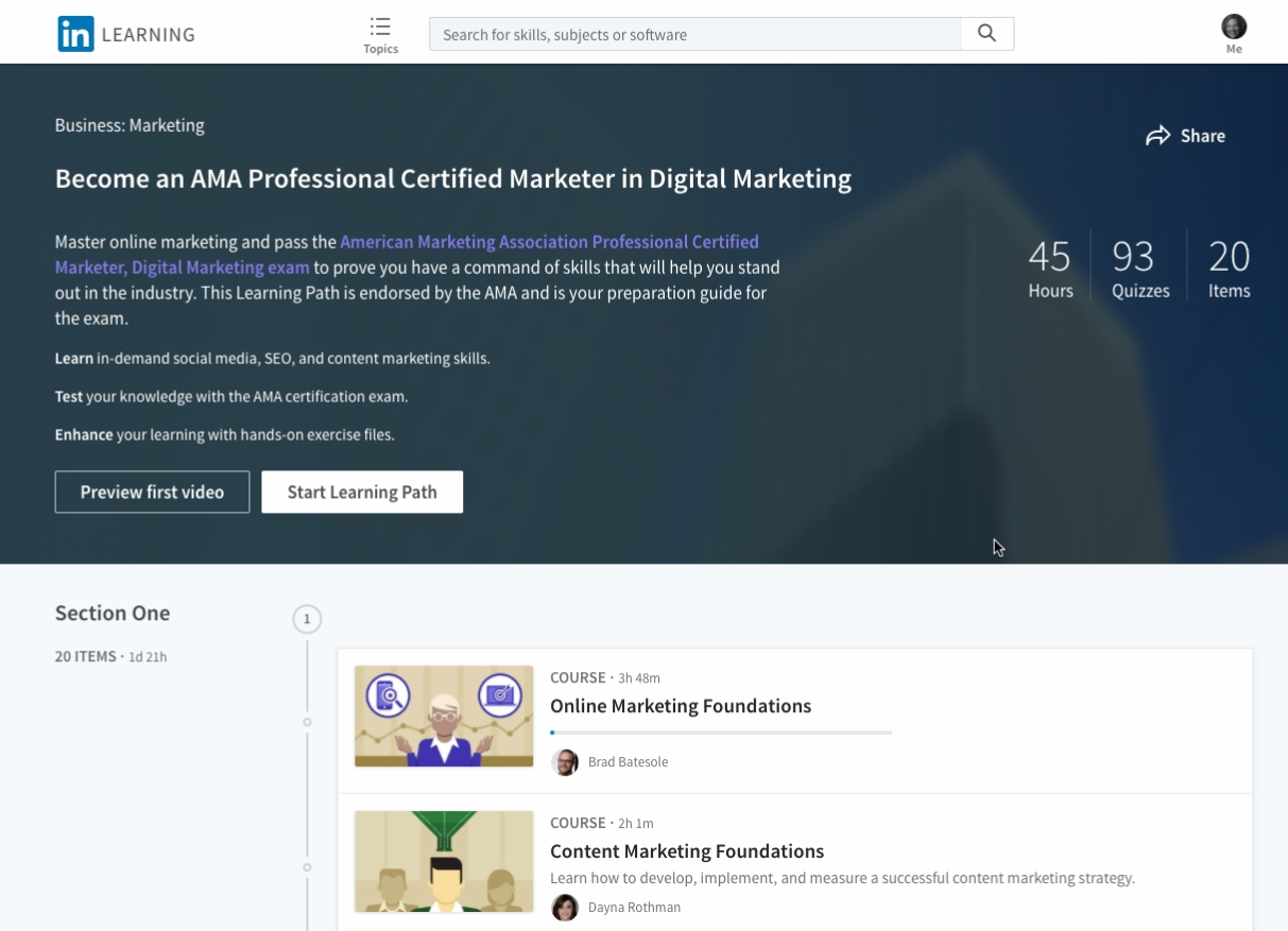 American Marketing Association And Linkedin Learning Launch Digital