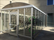 Locking Bike Shelter keeps Bikes and Students Safe with Access Cards, Security Cameras and Lighting