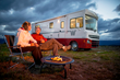 """""""Over time, your vacation budget goes a lot further in a Winnebago,"""" says WinnebagoLife.com editor Don Cohen, here with wife Terry."""