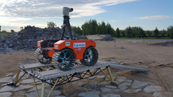 The Argo J5 rover, which will be used during Mission Control Academy this summer, will be controlled by students in remote classrooms around the world during summer 2017, as it navigates the Canadian Space Agency's Mars Yard.