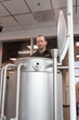 Brewing Operations Manager Brian Lindberg working in the Kalamazoo Valley Community College's Kalsec® Center for Sustainable Brewing Education