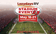 Lazydays RV Sales Event at Raymond James Stadium Home of the Buccaneers May 18-21
