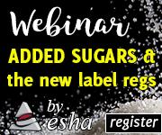 Webinar: The Buzz on FDA's Definition of Added Sugars