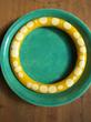 "Vintage 1950's Bakelite ""Random Dot"" Bracelet"