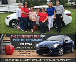 2016 Winner Jennifer Vasquez Pictured With Family Toyota Of Tampa Bay Perfect Car For Perfect Attendance Giveaway