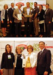 Top Photo: Cornerstone Award Winner, Cirtronics, Bottom Photo: Partners in Innovation Award Winner, CCA For Social Good (Photo credits: Annie Card)