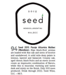 Luxury brand, Seed Wine Awarded 94-Points for its Single-Vineyard 2015 Malbec