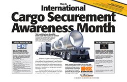 International Cargo Securement Awareness Month, CVSA's 2017 International Roadcheck, International Roadcheck