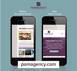 B2B Marketing Agency Before and After Responsive Website