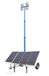 Larson Electronics LLC Releases New Solar Powered LED Light Tower with Battery Charger and Auto Timer