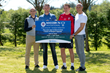 Rangers Legends Alex Rae, Mark Hateley with current Assistant Manager Jonatan Johansson and current player, Clint Hill.