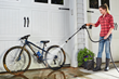 WORX Hydroshot quickly power-washes bicycles.