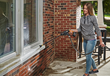 WORX Hydroshot is handy for spring cleaning chores, such as washing window frames.