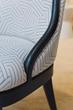 custom fabrics on furniture, sherwin williams paint, dowel.furniture, barbara elza hirsch
