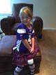 Mackayla all ready for preschool when 4 years old
