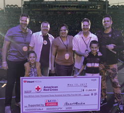 The California Earthquake Authority and iHeartMedia presented a check to the American Red Cross for $171,250, bringing the six-year total raised by the Get Prepared, California! Auction to $1,060,355.