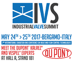 DuPont Presenting New Perfluoroelastomer Solution at Industrial Valve...