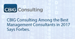 CBIG Consulting Among Best Management Consulting Firms, says Forbes