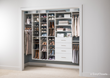 EasyClosets Adjustable Shoe Organizer provides organization for every pair in one place to improve visibility, adjusts easily as shoes and seasons change, and maximizes use of vertical storage space.