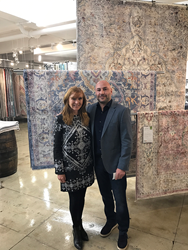 Yuval Evar and Nicole Miller at the Home Dynamix Showroom