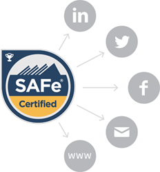 Digital badging provided by Scaled Agile Professional Certification Program