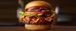 Smokey Bones' Smokehouse Burger