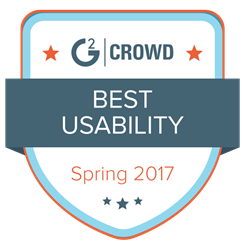 G2 Crowd Best Usability Badge
