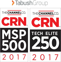 Tabush Group named by CRN to 2017 Tech Elite 250 & 2017 MSP 500 lists