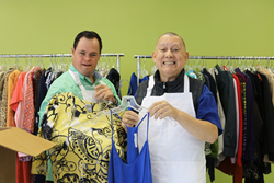 Vocational students with special needs work at TERI Inspired Resale