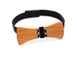 Each participant will leave with a completed bow tie made of beautiful hardwood and a self-adhesive, velvet neck strap.