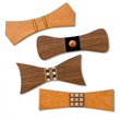 Cherry and walnut wood will be used to construct the bow ties, in conjunction with inlay bandings for a really unique gift.