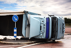 A truck accident which could have been prevented if a limiter was installed