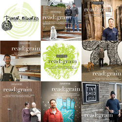 Pioneer Millworks sponsored local makers. Each created for the Read:Grain theme using reclaimed wood and shared their during the company's Design Week Portland Open House.