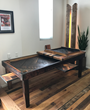A gaming table crafted by Tiny Shed using Pioneer Millworks American Prairie Taphouse.