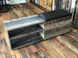 Makers Woodworks created a bench with storage for Pioneer Millworks Read:Grain DWP open house using Black & Tan Reclaimed Oak.