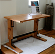 Antique Heart Pine was giving new life as a sash table created by Global Homestead Garage for Pioneer Millworks.