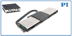 NEW Linear Motor, Direct Drive Precision Positioning Stage, LMS-180, shown with SMC Hydra Motion Controller