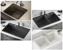 Four New Topmount TruGranite Sink Models