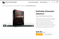 ProTrailer Cinematic Volume 2 - FCPX Plugins - Pixel Effects