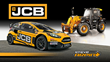 Loenbro Motorsports No. 00 Ford Fiesta ST, driven by Steve Arpin, in JCB livery for the second race of the 2017 Red Bull Global Rallycross season, with a JCB 509-23TC Loadall telescopic handler.