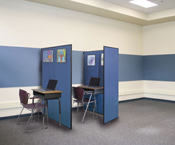 Screenflex offers Study Carrels to provide semi-private, versatile room dividing solutions