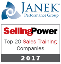 Janek Performance Group Selected to Selling Power's 2017 Top 20 Sales Training Companies List