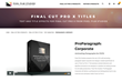ProParagraph Corporate was released for FCPX by Pixel Film Studios