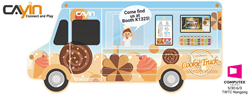 CAYIN Technology brings a food truck to showcase the importance of location-based digital signage in food and Beverage industry at this year's COMPUTEX.